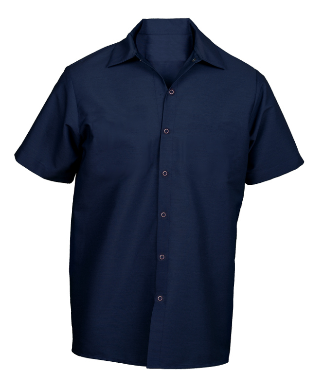 Picture of Pocketless Work Shirt  (Short Sleeve-No Buttons)