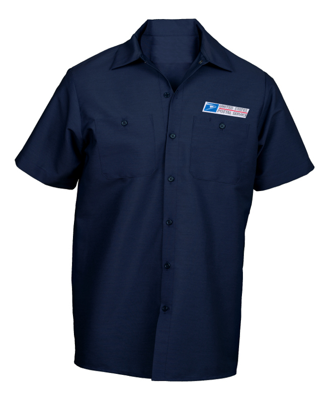 Picture of USPS 71: Work Shirt with USPS Emblem- Short Sleeve