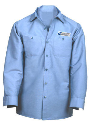 Picture of USPS 72: Work Shirt with USPS Emblem- Long Sleeve