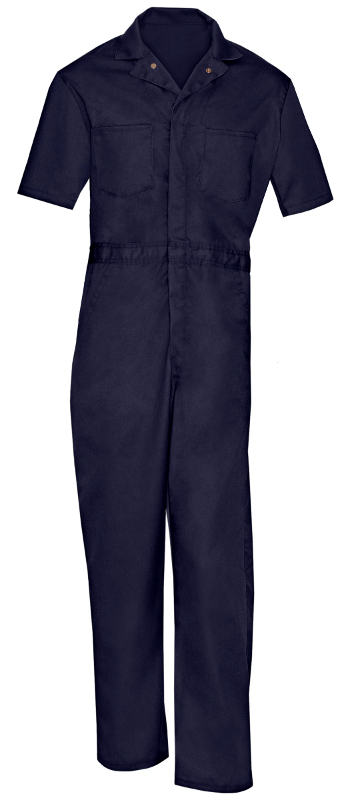 Picture of Cotton Brass Button Closure Coverall (Heavy Weight)-Short Sleeve