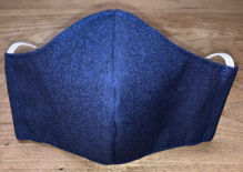 Picture of Face Mask (worn behind the ears) with Filter Pocket for Men or Women-Navy Blue