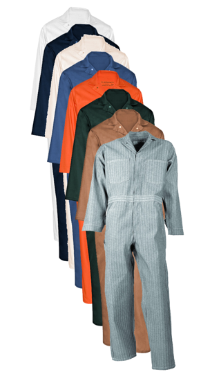 Picture of Cotton Brass Button Closure Coverall (Long Sleeve)