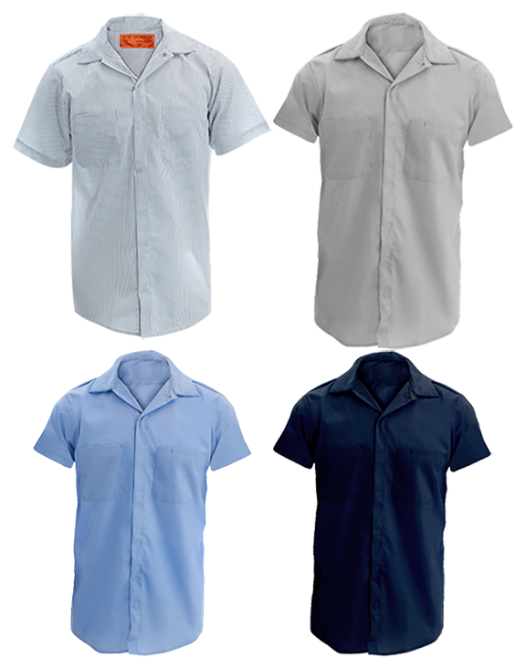 Picture of Concealed Gripper Front Shirt (with chest pockets)-Short Sleeve